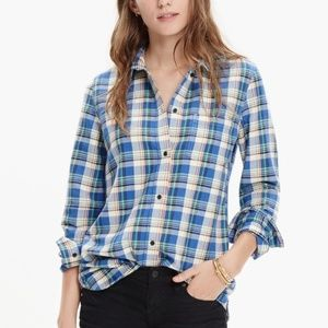 Madewell Slim Boyshirt Tulsa Plaid Button Down